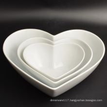 New Design Decoration Heart Shape Porcelain Dinnerware Plate