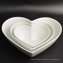Nouvelle plaque de décoration en forme de coeur en porcelaine