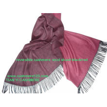 Cashmere Wool Blend Thin Reversible Shawl