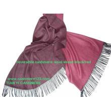 Kaschmir Wolle Blend Thin Reversible Shawl
