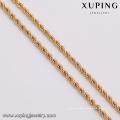 43647 xuping meilleure vente mode 5 grammes simple collier de bijoux en alliage de cuivre