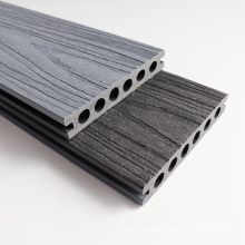 Outdoor 3D Embossed Surface Composite Plastic Wood Grain Dance Floor Deck Board WPC Ground Engineered Better Than PVC Decking