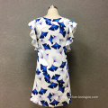 Women's polyester butterfly printed dress