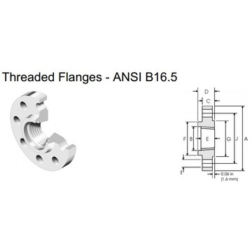BS4504 standard 304 Stainless steel Threaded Flange