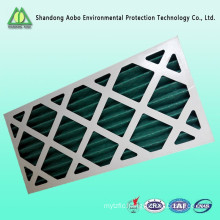 Cardboard pleated wire mesh disposable panel pre air filter