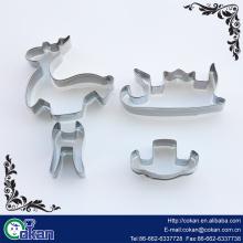 baking supplies 3D biscuit cutter snowflake elephant dinosaur shape halloween christmas mini cookie cutter