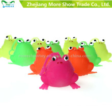 Nouveauté Multicolor Puffer Frog Yoyo Light Ball Ball Jouets