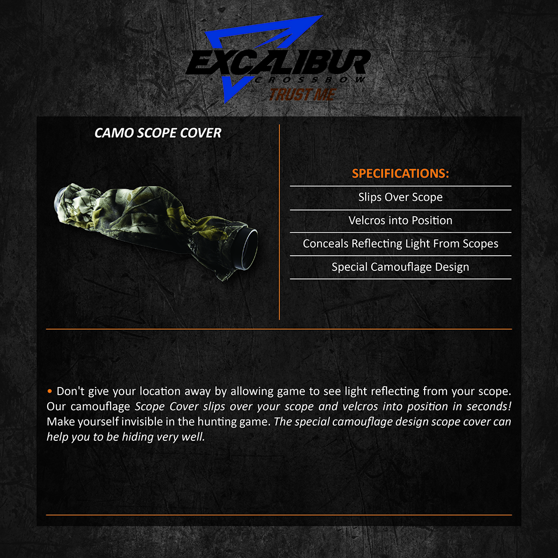 Excalibur_Scope_Cover_Camo_Product_Description
