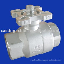 cast type valve ball