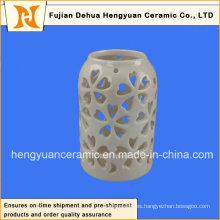 Decoración de cerámica hueco-hacia fuera diseño de la linterna del envase
