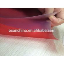 Folha rígida gravada do PVC da cor para a impressão Silk-Screen