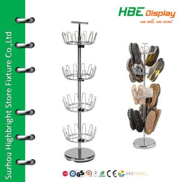Adjustable rotating metal shoe racks