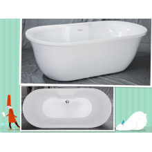 Oval Acrylic Soaking Bathtub Wholesale Freestanding Modern Bath