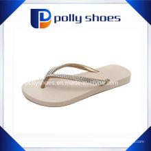 Branco EVA Flip Flop Mulheres Diamond Strap