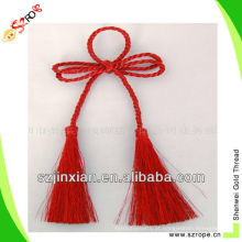 franja decorativa da borla / borla da cortina do nó da forma / borlas por atacado