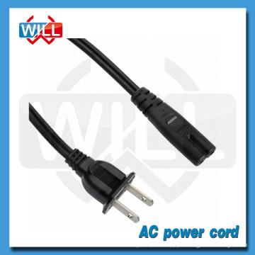 Aprobación de CUL 125v 2.5a 10a 2 pines canadá cable de alimentación de CA