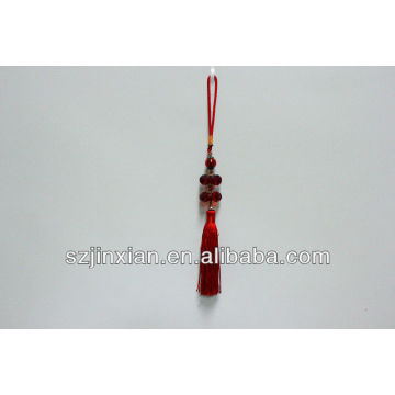 Hot sale decorative 100% beaded jade red tassels for furniture