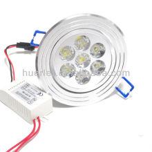 huerler AC85-265v 7leds 90-100LM/w downlight 7w led