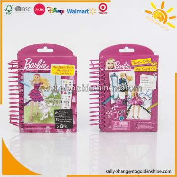 Barbie Mini Sketch Buch mit Buntstiften