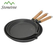 Panela de fritada redonda do ferro fundido do Cookware do ferro fundido novo chinês não vara