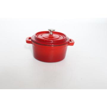 Enamel Mini Cast Iron Casserole Pot