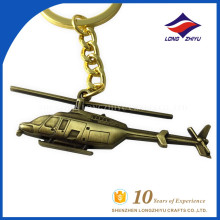 Customized decorative keychain wholesale metal aircraft key chain