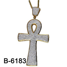 New Design Us Style Micro Setting 925 Silver Cross Pendant.