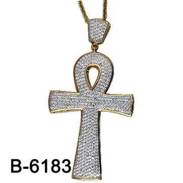 New Design Us Style Micro Setting 925 Silver Cross Pendant.