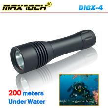 Maxtoch DI6X-4 Lumière de plongée étanche Lumen