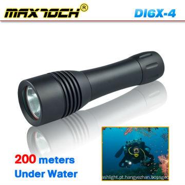Maxtoch DI6X-4 Lúmen de luz de mergulho à prova d'água