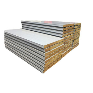 Struktur bertebat 150 mm tebal rockwool logam sandwich panel