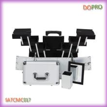 Профессиональный чехол для путешествий Серебряный макияж чемодан на колесах (SATCMC017)