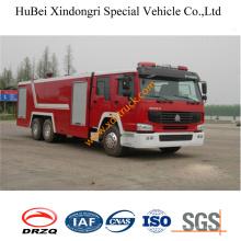 Camion de pompier de l'eau 16ton HOWO Euro3