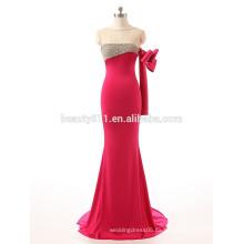 El último diseño de la manera rebordeó la envoltura sin tirantes una Piso-Longitud de la manga rebordeó el vestido del baile de fin de curso del vestido de noche ZS15-05