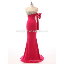 Dernière tenue de mode en perles bretelles une manche doublée au sol longueur robe de soirée robe de bal ZS15-05