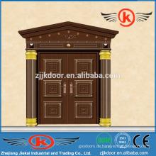 JK-C9037 Villa Sicherheit einzigartige Haus Design Kupfer Bogen Tür