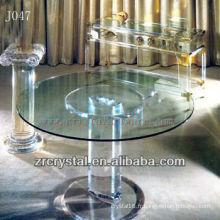 K9 Table ronde en cristal