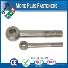 Made in Taiwan DIN 444 Metric Thread Stainless Steel Zinc Finished Eye Bolt