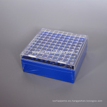 PC Cryo Freezer Box 100 pocillos para tubo criogénico de 2 ml
