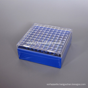 PC Cryo Freezer Box 100 well for 2ml cryo tube