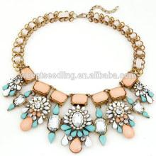Flower dernier collier de pierre design 2014 pour cadeaux de mariage