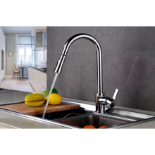 YL88533-66 Pull out hot and cold water tap single handle chrome plated kitchen mixer