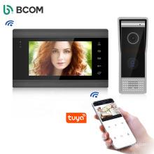 Smart ring video doorbell Tuya wifi IP intercom system support iOS and Android unlock/monitor/intercom