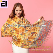 New fashion style fall&winter all-match rose printing scarf
