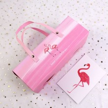 Flamingo pattern swiss roll packaging box