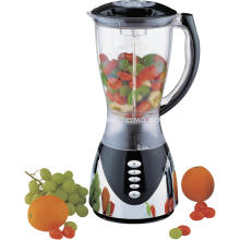 1.5L en plastique jar blender chrome body