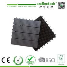 Azulejos de Decking compuestos plásticos de madera impermeables anti-ULTRAVIOLETA