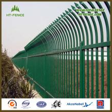 China Profesional caliente sumergido galvanizado y en polvo cubierto / pintura presionado Lanza Top Esgrima ferroviario / valla de hierro forjado