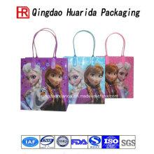 O logotipo feito sob encomenda imprimiu o saco de plástico de compra dos sacos plásticos do presente da roupa