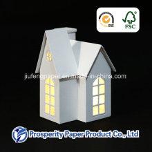Бумажный дом со светодиодной подсветкой